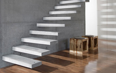 Lovely Interior Concrete Stair Treads